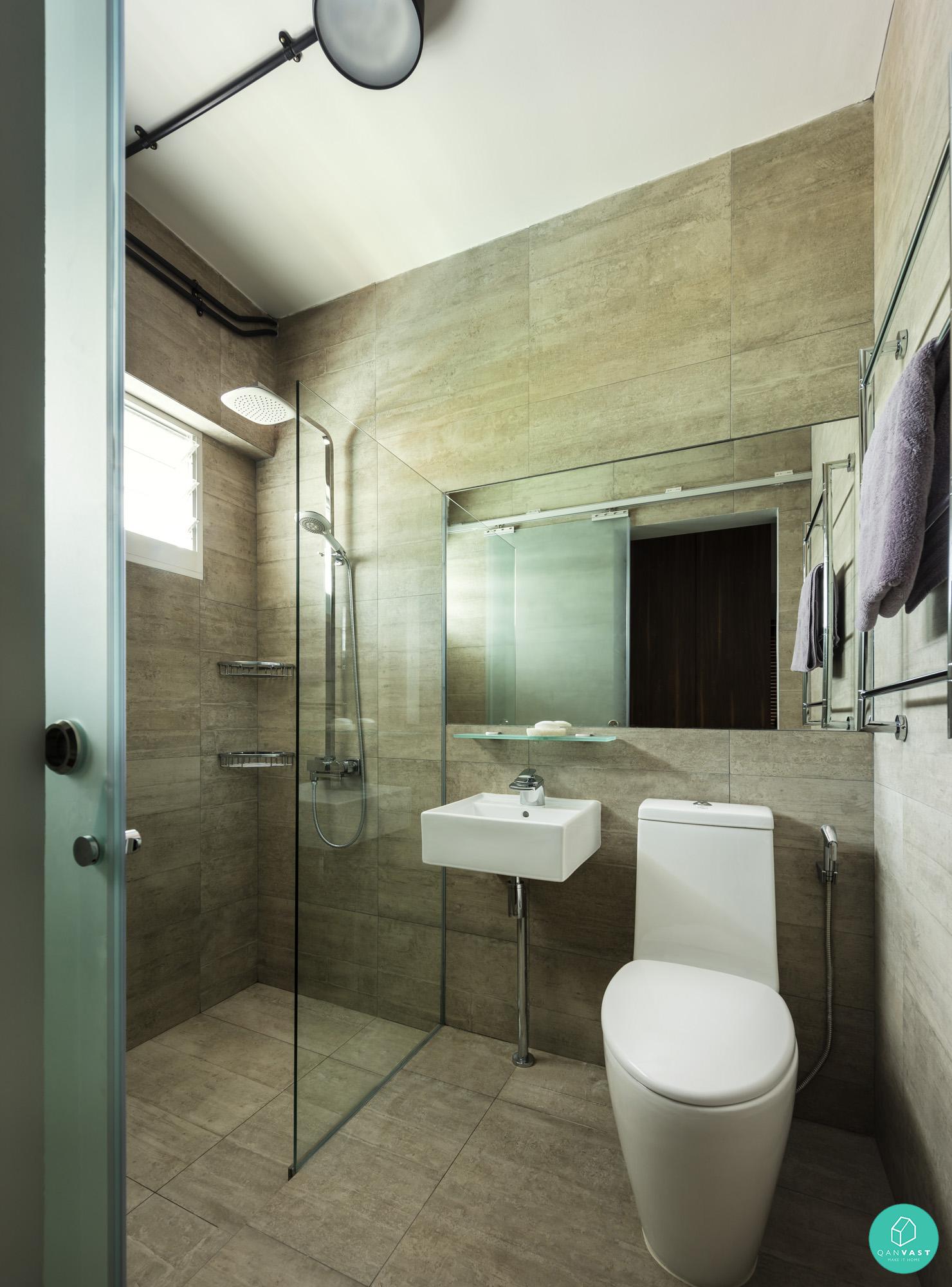 Scandustrial theme 6 homes that achieved this look for Bathroom designs singapore