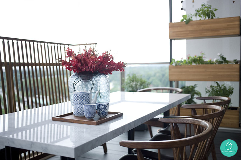 5 ideas to invigorate your hdb condo balcony for Restaurants with balcony