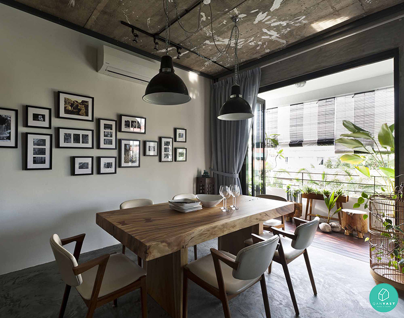 10 mindblowing airbnb worthy homes in singapore for Industrial interior design lighting