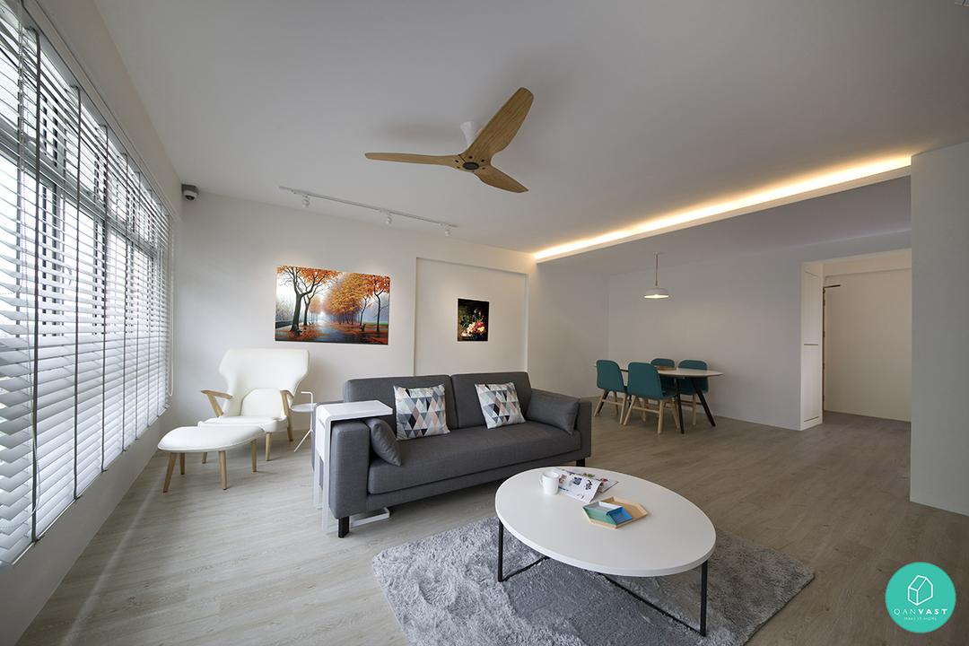 10 popular homes for young couples under 40 000 qanvast for Hdb minimalist interior design