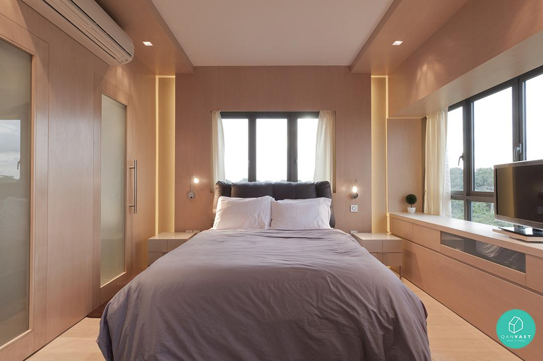7 home designs that are simple clean and uncluttered for for Bedroom designs singapore